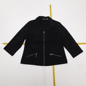 Chico's 1 Black Full Zip Blazer  M-1-96947